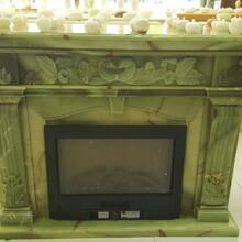 进口古青玉石雕刻壁炉