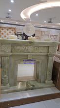 青玉雕刻壁炉架