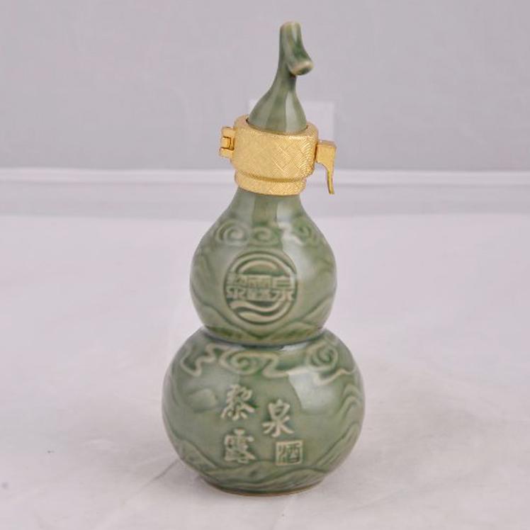 【创意酒瓶陶瓷葫芦酒瓶葫芦瓶青釉2011年新款酒瓶酒