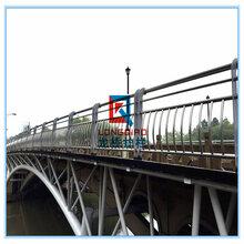杭州桥梁防撞栏杆杭州桥梁护栏不锈钢碳钢复合管护栏图片