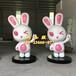 """ip卡通玻璃钢喜兔雕塑形象公仔化身杭州电商企业""""吉祥物"""""""