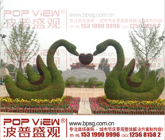 立体花坛施工,立体花坛雕塑型设计