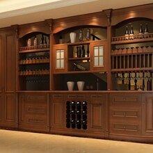武汉定制酒柜实木酒柜原木酒柜隔断酒柜实木定制工厂酒窖图片