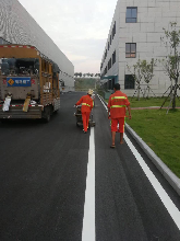 道路划线施工计划施工方法-重庆停车库马路划线-画车位线