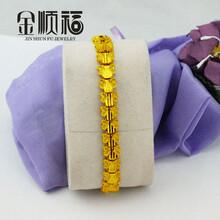 黄铜首饰现场加工纯铜手链批发女士新款手链批发特价促销图片