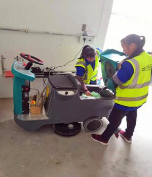 小型超市商场驾驶式双刷洗地机仓库车间电动清洗机