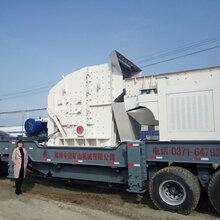200吨产能轮胎式移动建筑垃圾破碎站落户山西晋城建筑垃圾破碎处理厂图片