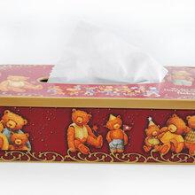 山东铁盒包装饼干抽纸方形异型铁盒包装