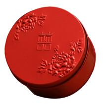 圆形喜糖礼品盒山东河北食品铁盒包装