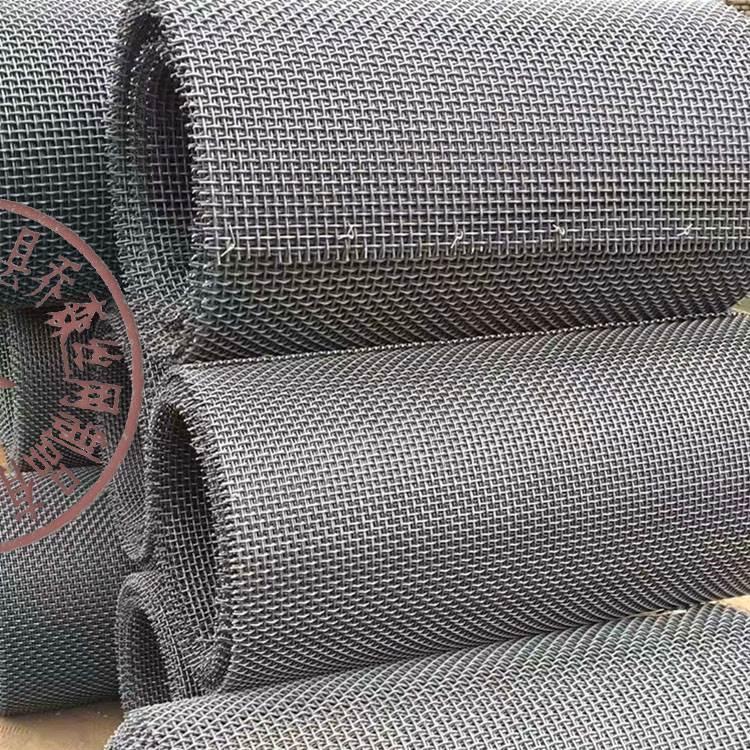 盘条大丝编织筛网耐磨65锰钢粗丝轧花编织筛网厂家