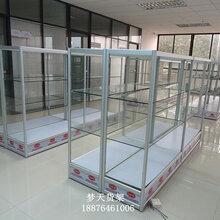 展会玻璃展示架展览样品模型古董陈列架可拆装钛合金精品货架展柜