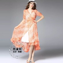 时尚新款连衣裙批发 价低码齐