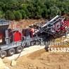 周口石英石移動制砂機,移動破碎站,鵝卵石破碎制砂生產線