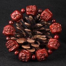 小叶紫檀十八罗汉手串精工雕刻双面佛小叶紫檀工艺品