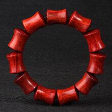 小叶紫檀手链1.52.0cm竹节佛珠手串同料顺纹手串厂家批发