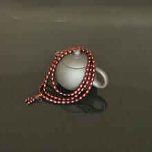 印度小叶紫檀木佛珠手链108颗念珠男女手串水滴珠