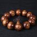 自家生产天然清香虎斑纹花奇楠佛珠手串高品质木质饰品佛珠手链