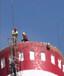 东营化工热电烟筒安装爬梯平台避雷针工程