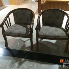 東莞優冠酒店家具廠特價處理實木賓館用一桌二椅休閑桌椅