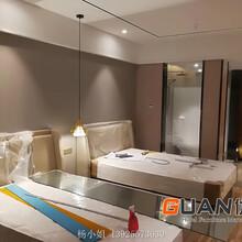 優冠商務酒店客房家具床軟體床床靠背床架定制