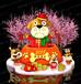 2118廣州新春美陳雕塑dp點裝飾商業廣場主題活動燈籠美陳堆頭