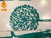 玻璃鋼小浮雕雕塑細致樹枝造型工藝品掛件墻壁裝飾小品道具