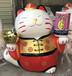 胖招財貓玻璃鋼雕塑