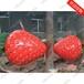 玻璃鋼彩繪仿真水果蘋果、香蕉、葡萄園林景觀雕塑