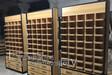 西寧眼鏡柜木紋展示柜智能指紋鎖柜臺