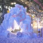 人造雪山场景玻璃钢雪山景区玻璃钢厂家雪景布置冰山布置高仿真雪景摆件人造雪景夜景玻璃钢摆件景区玻璃钢雕塑图片