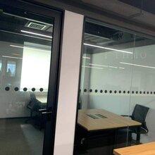 办公室透明玻璃贴膜_单透玻璃膜
