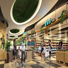 彭州大润发商场室内外装修设计效果图由广东天霸设计承接打造