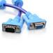 深蓝大道VGA连接线3+4公对母双蓝色V111