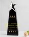 供应广州水晶奖杯厂家、创意黑白水晶拼接奖杯水晶奖杯纪念品