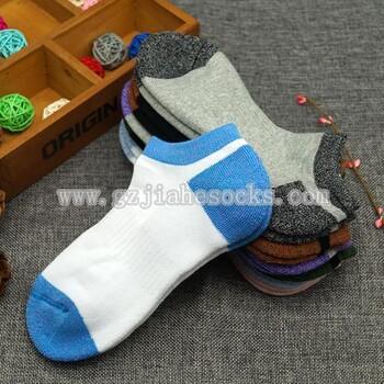 gzM-174广东袜厂撞色毛巾船袜2017流行短袜子