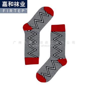 广东外贸袜定制-广州条纹男袜订做-短袜棉袜加工出口