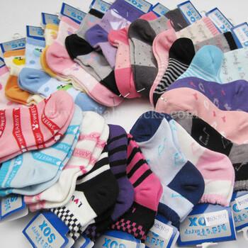 广州袜子儿童袜厂专业童袜婴儿袜定制,提花袜单针袜订做贴牌