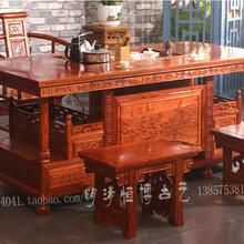 中式古典榆木茶桌茶台功夫茶台仿古图片