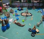 大型幼儿园户外碳化积木玩具儿童木质积木玩具批发