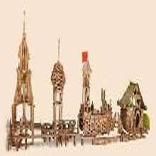 幼儿园实木积木玩具儿童炭烧积木碳化积木积木类玩具图片