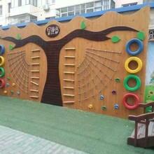 炭烧积木攀爬墙荡桥多面梯幼儿园户外玩教具专业生产厂家