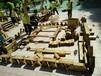 湖北幼兒園積木玩具兒童益智積木玩具戶外防腐木積木玩具炭燒積木
