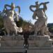 惠安厂家直销石雕哼哈二将雕塑花岗岩?#23435;?#38613;刻寺庙护法金刚佛像
