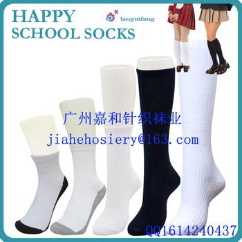 广州袜工厂中筒日韩学生袜学生袜男女童白色袜配校服长筒棉袜
