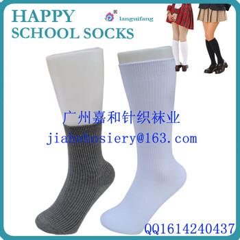 佛山袜子厂Schoolsocks/学生袜袜子厂厂家_纯色学生袜生产厂家