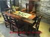 四川老船木茶台茶几批发阳台创意茶桌图片客厅实木石盘茶艺茶道桌