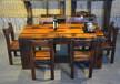 广西直销老船木茶桌椅组合批发拆船木靠背椅功夫茶台原生态茶几
