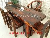 海南直销老船木实木家具批发船木茶几茶台茶桌餐桌椅组合沉船木茶桌