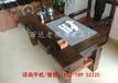 海口老船木龙骨海螺孔茶台批发古船木家具图片茶桌厚板沉船木大茶几