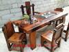 大庆直销万达老船木家具椅组合图片船木茶桌批发复古实木阳台小茶台仿古茶几现货批发